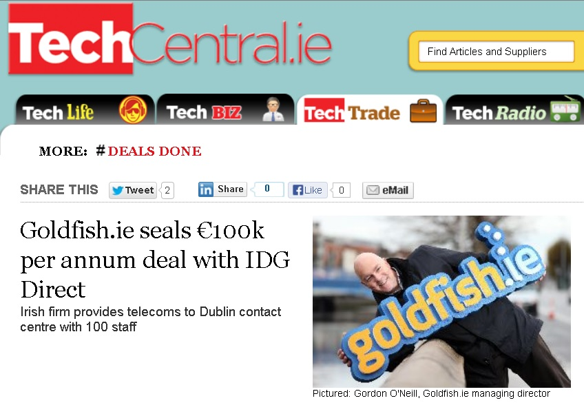 Irish firm provides telecoms to Dublin contact centre with 100 staff