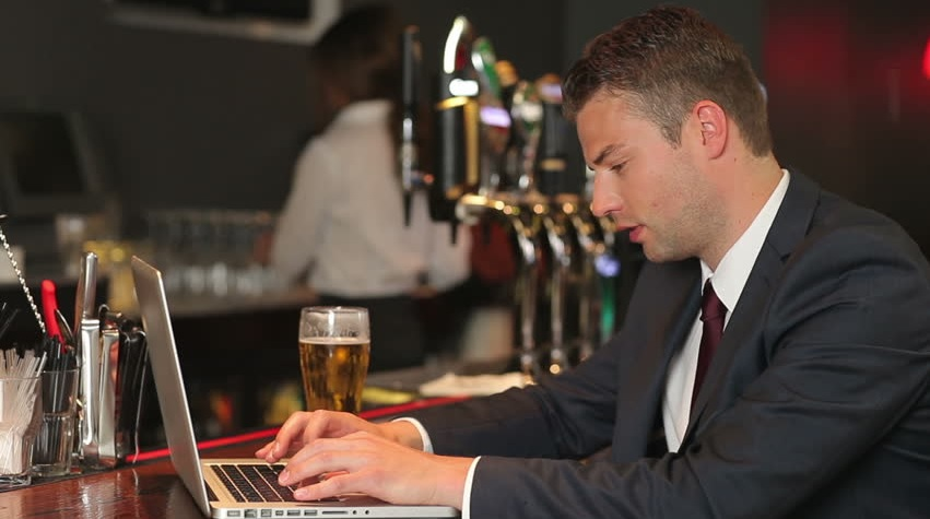 working in pub